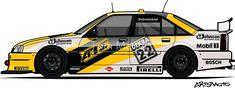 'Opel Omega A Irmscher Evo 500 ATS DTM Touring Car' Sticker by Tom Mayer