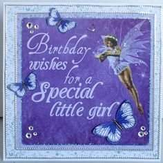 A card by Kelly-ann Oosterbeek made using the Fairy Dust Collection from… Step Cards, Kids Birthday Cards, Butterfly Cards, Fairy Dust, Dust Collection, Card Designs, Kids Cards, Stampin Up Cards, Fairies