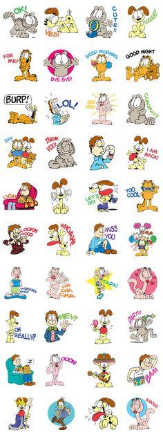 Garfield & Friends - LINE Stickers