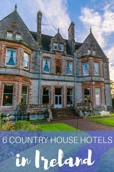When you're looking for places to stay in Ireland, you can't beat country house hotels in Ireland. Here are six of the best Irish hotels to stay at. Hotels from all over Ireland Vacation, Ireland Travel, Ireland Hotels, Galway Ireland, Cork Ireland, Belfast Ireland, Castles In Ireland, Greece Vacation, Places To Stay In Ireland