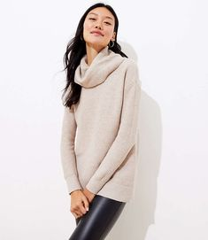Shop LOFT for stylish women's clothing. You'll love our irresistible Cowl Neck Tunic Sweater - shop LOFT.com today!