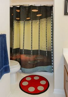 STAR TREK Transporter Room Shower Curtain & Bath Mat | Geek Decor #StarTrek