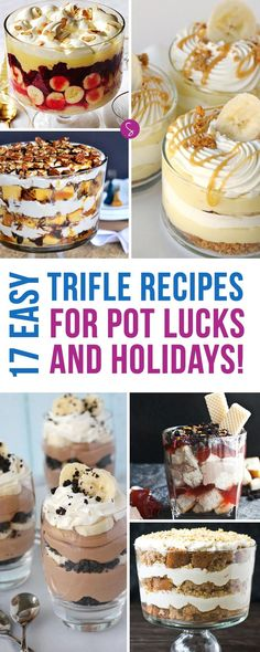 These Easy Trifle Recipes for Kids are perfect for Holidays, Pot Lucks and Church Gatherings
