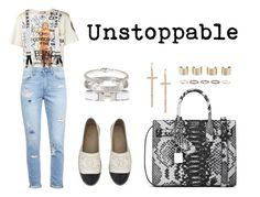 """Unstoppable"" by anaelle2 ❤ liked on Polyvore featuring Vivienne Westwood, Paige Denim, Chanel, Yves Saint Laurent, LJ Cross, Henson, Maison Margiela, Hermès, Cartier and Alexander McQueen"