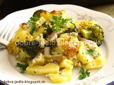 Zapekané zemiaky s brokolicou - recepty