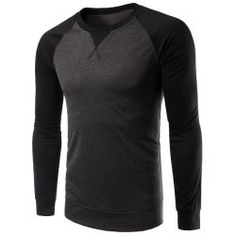 Color Splicing Round Collar Raglan Sleeve T-Shirt Spring Casual Online Latest Mens Wear, Tactical Clothing, Men's Clothing, Raglan Shirts, Mens Tees, Men Shirts, Shirt Designs, Men Sweater, Sleeves