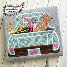 Bow Hunting Truck Applique - 4 Sizes! | What's New | Machine Embroidery Designs | SWAKembroidery.com Beau Mitchell Boutique