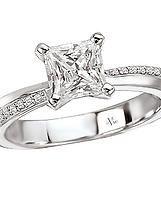 Mirror Image Semi-Mount Diamond Ring in 14kt White Gold. (D.1/10 carat total weight; does NOT include center stone. http://www.houstondiamondandgem.com/  Engagement ring // Wedding Ring // Diamond Ring