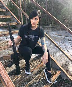 Female Cop, Female Models, Military Women, Military Fashion, Alex Zedra, Gunslinger Girl, Hot Country Girls, Wearing All Black, Warrior Girl