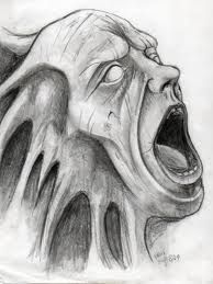 screaming face drawings - Google Search
