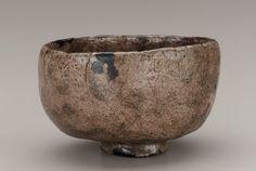 Tea bowl in the style of Hon'ami Koetsu, unknown Raku ware workshop 19th century Edo period or Meiji era. Raku. Japan