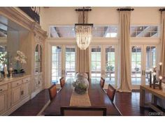 Long View  //  I LIKE THE BUILT-IN HUTCH AND BUFFET. AND THOSE FRENCH DOORS ARE GORGEOUS!!!  A