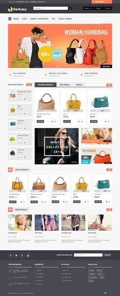 Rantasy Responsive Multipurpose Prestashop Theme 2015 #bag #shop