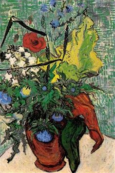 Wild Flowers and Thistles in a Vase - Vincent van Gogh
