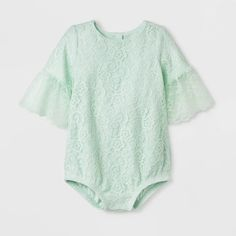 46a113ef843 Baby Girls  Lace Romper - Cat   Jack™ Mint