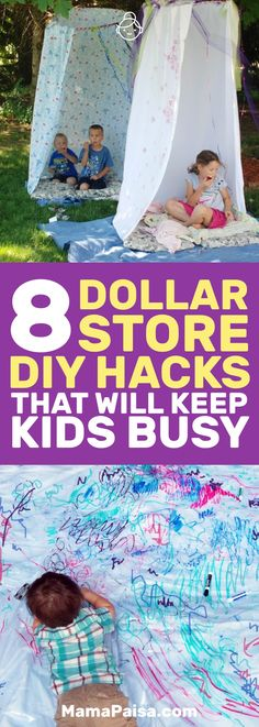 I was looking for some kids activities and came across these awesome hacks that you can use from Dollar Store items. My kids will never be bored again! #DIY #KidsActivities