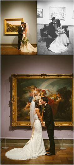 Art museum portraits. Columbus museum of art. Wedding day portraits. Ashley West Photography.