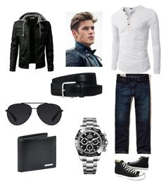 """Men's Fashion"" by solieldawnmarie on Polyvore featuring Hollister Co., Converse, Rolex, BOSS Hugo Boss, Bally, Tod's, men's fashion and menswear"