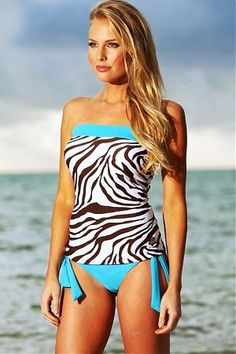 Zebra Bandeau Tankini.....must buy this!