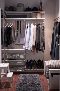 IKEA An Adaptable Storage System Like ALGOT Makes It Possible To Take A Small Nook And Turn Into Walk In Closet