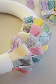 Paper Easter Wreath : Core'dinations ColorCore Cardstock® | Scrapbook Cardstock Paper, Projects, Tips, Techniques and More!