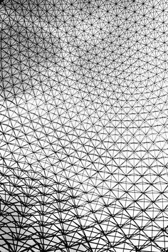The Geodesic Dome Richard Buckminster Fuller - Montreal Op Art, Richard Buckminster Fuller, Parametric Design, Geodesic Dome, Installation Art, Textures Patterns, Geometric Shapes, Creative Design, Architecture Design