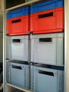 Van Storage, Diy Garage Storage, Crate Storage, Tool Storage, Garage Furniture, Modular Furniture, Workshop Storage, Workshop Organization, Van Shelving