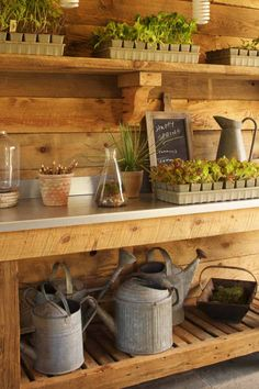Get some fabulous ideas to on how to organize your potting shed with clever storage solutions for your garden tools. shed design shed diy shed ideas shed organization shed plans Shed Organization, Shed Storage, Storage Ideas, Storage Solutions, Garage Storage, Workshop Storage, Tool Storage, Diy Storage, Shelving Ideas