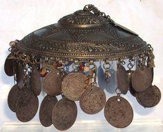 52 Antique Silver Turkish and European Coins in Silver Ottoman Headdress | eBay