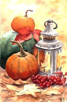 осенний натюрморт  fall autumn pumpkin тыква осень
