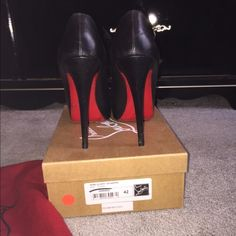 Christian louboutin Christian louboutin miss clichy pumps in Napa leather , worn a few times in great condition . Easy to walk in . NO LOW OFFERS . I will Only trade for a pair of CL pigalle 120mm or 100 mm in size 42. These are a size 42 fits U.S size 11 perfectly . Not looking to drop the price on PM much . These retail for $985 with tax . Sold out nationwide !! Vibram is added for protection Christian Louboutin Shoes Heels