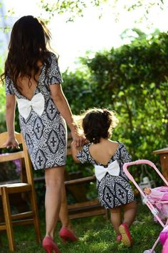 """""""Mommy and I in the backyard."""""""