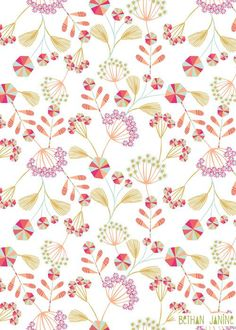 Lovely, colorful floral pattern • »Meadow« by @bethanjanine