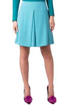 aef0091c40 TWELVE-T Mini A-Line Skirt Sizde IT 42 / S Pleated Front Made