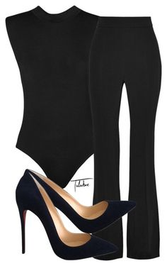 """""""Untitled #360"""" by tulubre ❤ liked on Polyvore featuring WearAll, Cushnie Et Ochs and Christian Louboutin"""