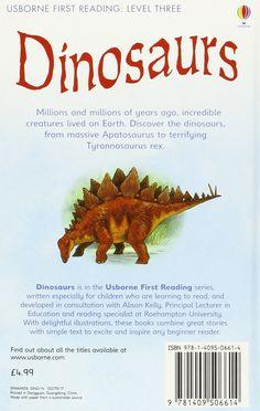 Dinosaurs (Usborne First Reading): Amazon.es: Conrad Mason, Daniel Howarth: Libros en idiomas extranjeros