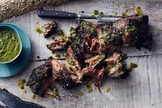 Salsa verde is such a great sauce to pimp up your roast with and perfect topped over slow-roasted lamb.