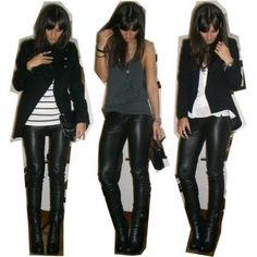 1item.6looks: Leather Pants | speakofchic