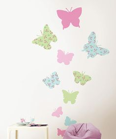 Take a look at this Pastel Butterfly Wall Decal Set on zulily today!