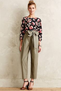 Eliza Belted Trousers #anthrofave