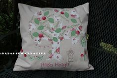 Vintage look family Tree cushion. Available from https://www.facebook.com/Babas.Sew.Creative