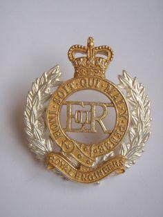 Royal Engineers Officers Dress Cap Badge