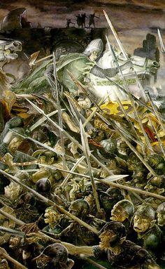 Alan Lee's Lord of the Rings Artwork / Battle of Gondor, Pelennor Fields