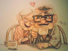 Wonderful love story.Carl and Ellie ♥ by Beth Hummel