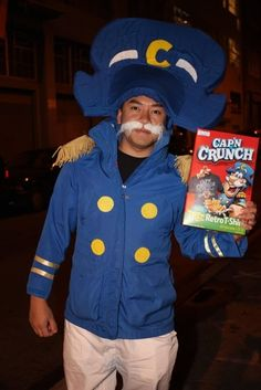 This guy is my hero!! Captain Crunch! | 19 Brilliant Ways To Dress Like Food For Halloween