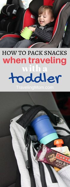 Travel with toddler means you'll need snacks! Check out these great snack hacks for traveling with toddlers. They may save you a hangry meltdown. Travel Tips With Toddlers, Toddler Travel, Travel With Kids, Family Travel, Baby Travel, Family Vacations, Best Road Trip Snacks, Travel Snacks, Road Trip Hacks
