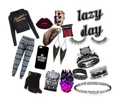 """""""lazy day"""" by n-butterfly on Polyvore featuring Boohoo, Salvatore Ferragamo, Casetify, GUESS, Leg Avenue and Illamasqua"""