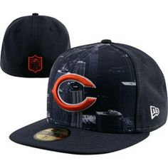 NEW ARRIVAL: Chicago Bears NFL 59FIFTY Logo Vista Fitted Hat  http://www.fansedge.com/Chicago-Bears-NFL-59FIFTY-Logo-Vista-Fitted-Hat-_1779480751_PD.html?social=pinterest_pfid66-61582
