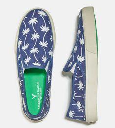 Blue AEO Printed Slip-On Sneaker