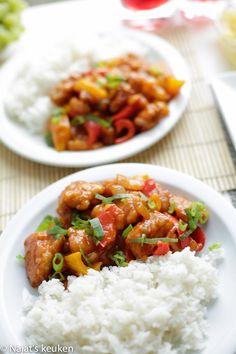 Crunchy kip in zoetzure saus | Kookmutsjes